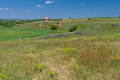 Colors of summer country in central ukraine near dnepropetrovsk city Royalty Free Stock Photos