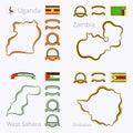Colors of Uganda, Zambia, Western Sahara and Zimbabwe
