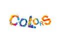 Colors. Watercolor vector splash paint