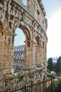 Coloseum in pula this is a view of romanian august croatia Royalty Free Stock Image