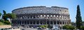 Coloseum ruin in city roma italy Stock Photo