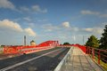 Colossal concrete motorway flyover access and egress gdansk poland Stock Photo