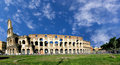 Colosseo day a panoramic wiev of the famous one of most known italian landmark in rome Stock Photo