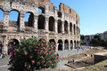 Colosseum amphitheater Italian Rome, Lazio Stock Photography