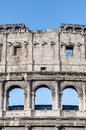 The colosseum amphitheater in rome italy or coliseum originally amphitheatrum flavium an elliptical amphitheatre Royalty Free Stock Image