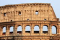 Colosseum arches Stock Photography