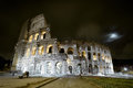 Colosseum (Coliseum) at night in Rome Royalty Free Stock Photo