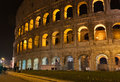 Colosseum (Coliseum) at night in Rome, Italy Royalty Free Stock Photo