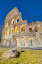 The colosseum or the coliseum in rome italy originally amphitheatrum flavium an elliptical amphitheatre Royalty Free Stock Image