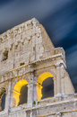 The colosseum or the coliseum in rome italy originally amphitheatrum flavium an elliptical amphitheatre Royalty Free Stock Photo