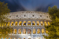 The colosseum or the coliseum in rome italy originally amphitheatrum flavium an elliptical amphitheatre Royalty Free Stock Photography