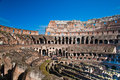 Colosseum or coloseum at rome italy with sunny sky Stock Photography