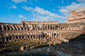 Colosseum or coloseum at rome italy with sunny sky Royalty Free Stock Images