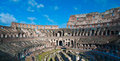 Colosseum or coloseum at rome italy with sunny sky Stock Photos