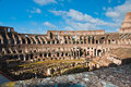 Colosseum or coloseum at rome italy with sunny sky Royalty Free Stock Photos