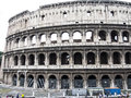 Colosseum landmark of the old rome italy Stock Photos