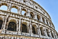 Colosseum - the main tourist attractions of Rome, Italy. Ancient Rome Ruins of Roman Civilization. Royalty Free Stock Photo