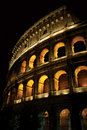 Colosseum at night Stock Photography