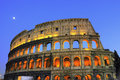 Colosseum at night of ancient Rome Royalty Free Stock Photo