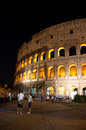 The Colosseum at night on August 7,2013 in Rome, Italy. Royalty Free Stock Photography