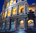 Colosseum at night dusk Royalty Free Stock Photography