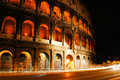 Colosseum at night iconic of rome light up italy Royalty Free Stock Photography