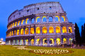 Colosseum at night, Rome, Italy Royalty Free Stock Image