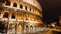 The colosseum at night rome italy photo taken in Stock Image