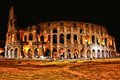 Colosseum at night view of the rome italy Royalty Free Stock Photography