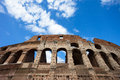 The colosseum originally known as flavian amphitheatre Royalty Free Stock Photo