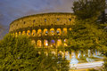 Colosseum på natten, Rome 免版税库存照片