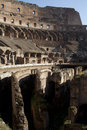 Colosseum of rome amphitheatre inside view Stock Photos