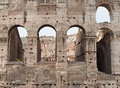 Colosseum rome arches of the italy Royalty Free Stock Image