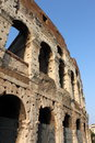 Colosseum in rome detailed view of the italy Royalty Free Stock Photo
