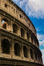 Colosseum in rome especially the walls and the arches of the italy Royalty Free Stock Photography
