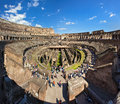 Colosseum in rome inside of italy Stock Images