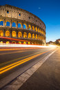 Colosseum rome italy by night Stock Photo