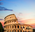 Colosseum rome italy at twilight Stock Photography
