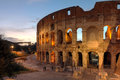 Colosseum rome italy view of the famouse in at sunset time Stock Photo