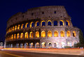 Colosseum in Rome by night. Royalty Free Stock Images