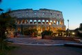 Colosseum rome night view colle oppio colosseo roma panorama notturno dal colle oppio Royalty Free Stock Photos