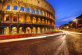 Colosseum rome picture of the in italy in the evening Stock Photo
