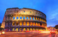 Colosseum rome picture of the in italy in the evening Stock Image
