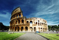 Colosseum in rome sunset and italy Royalty Free Stock Photos
