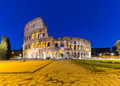 Colosseum in a summer night in Rome, Italy Royalty Free Stock Photo