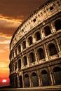 Colosseum Sunrise Sunset Royalty Free Stock Photo