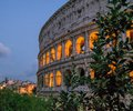 Colosseum at sunset, Rome. Italy. Royalty Free Stock Photo
