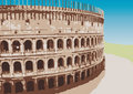 Colosseum (vector) Royalty Free Stock Photos
