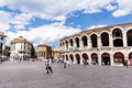 Colosseum in Verona, Italy in a cloudy day Royalty Free Stock Photo