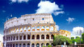 The Colosseum, the world famous landmark in Rome. Royalty Free Stock Images